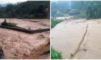Mưa lớn sạt lở, sụt lún nhiều điểm ở Lào Cai