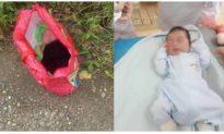 Bé trai còn nguyên dây rốn bị bỏ ven đường ở Hà Nội