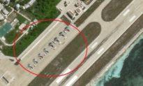 Trung Quốc đưa 8 máy bay chiến đấu, xếp hàng trên đảo Phú Lâm