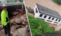 Nước sông Bạch Thủy tại Vân Nam Trung Quốc dâng cao hơn 8 mét chỉ sau 1 đêm, gây ra lũ lụt nghiêm trọng