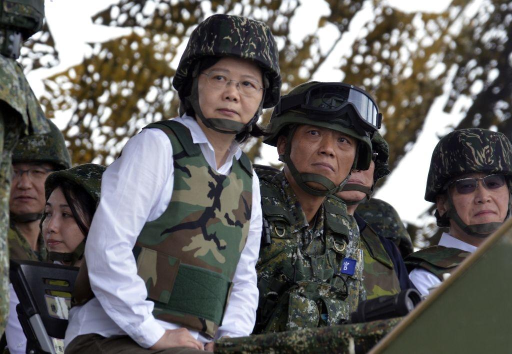 Tổng thống Đài Loan Thái Anh Văn thị sát cuộc tập trận Hán Quang ngày 25/5/2017.