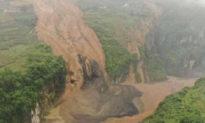 Ân Thi, Hồ Bắc sạt lở núi hình thành đập nước; chính quyền cảnh báo: Đập có thể vỡ bất kỳ lúc nào