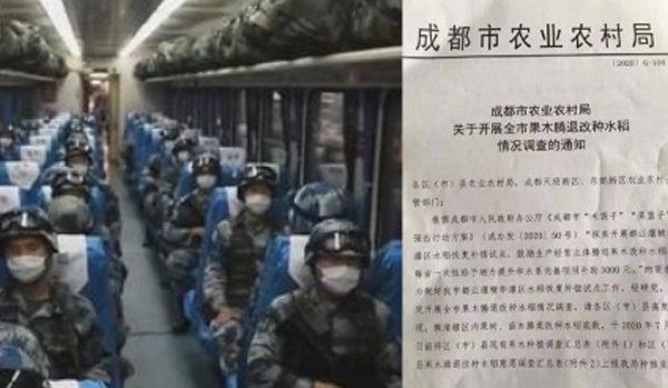 """Trung Quốc có dấu hiệu điều binh chuẩn bị lương thực, sợ quay trở lại thời """"Nạn đói lớn"""""""
