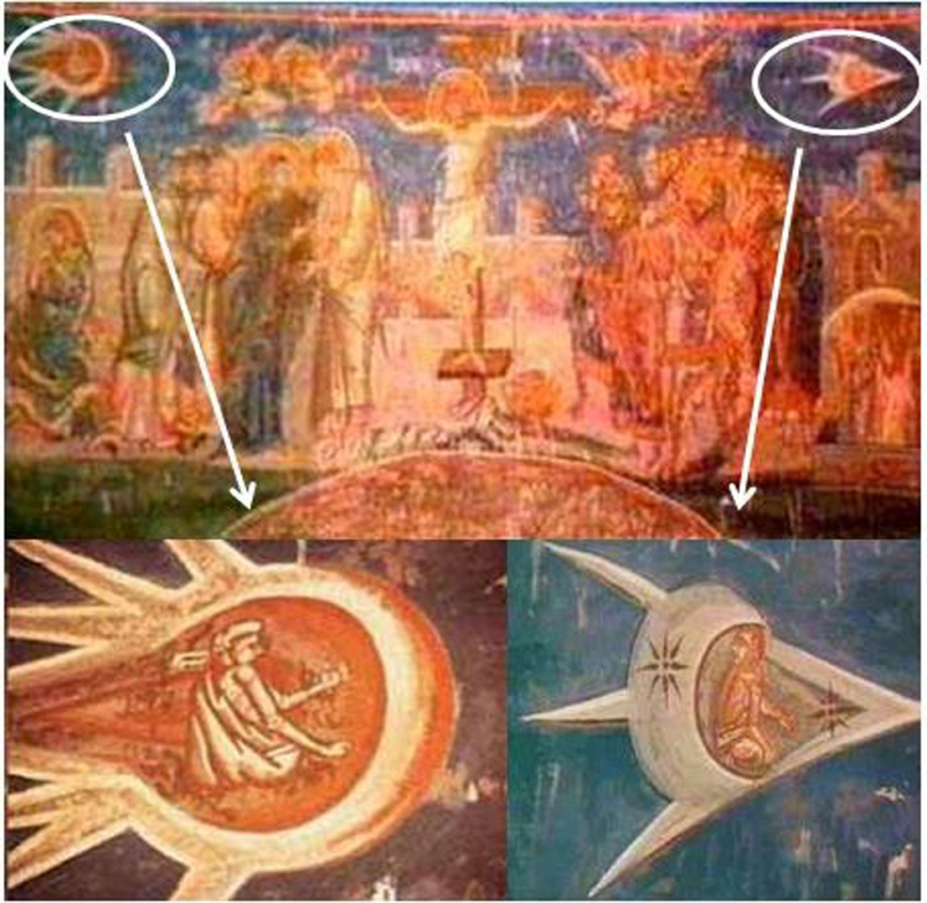 Bức tranh này được treo trên bàn thờ của Tu viện Visoki Decani ở Kosovo, Nam Tư