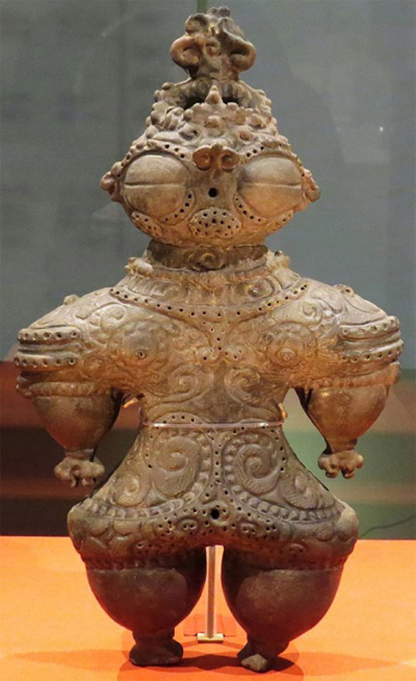 Bức tượng người bằng đất sét của văn hóa Jomon