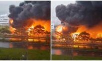 Cháy lớn tại khu công nghiệp Yên Phong, Bắc Ninh lúc sáng sớm
