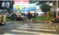 Nữ tài xế tông hàng loạt xe máy chờ đèn đỏ tại TP. HCM khai do đạp nhầm chân ga