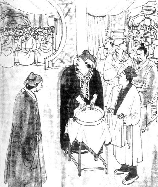 """Trong buổi lễ """"rửa tay chậu vàng"""" có sự góp mặt của đông đảo bạn hữu giang hồ, Lưu Chính Phong đã bị Tả Lãnh Thiền, chưởng môn phái Tung Sơn sai người ngăn cản."""