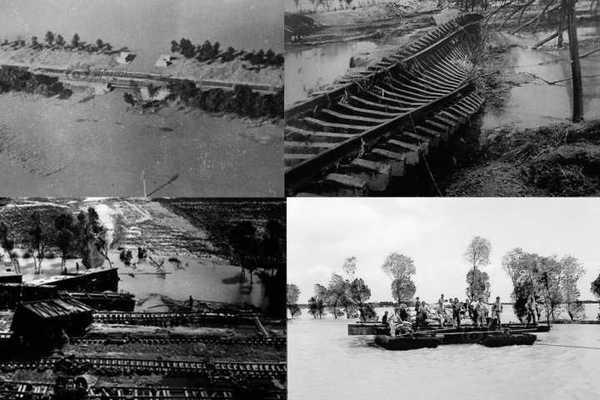 Hồ chứa nước Bản Kiều bị sập trong trận lũ lụt do mưa lớn kéo dài ba ngày
