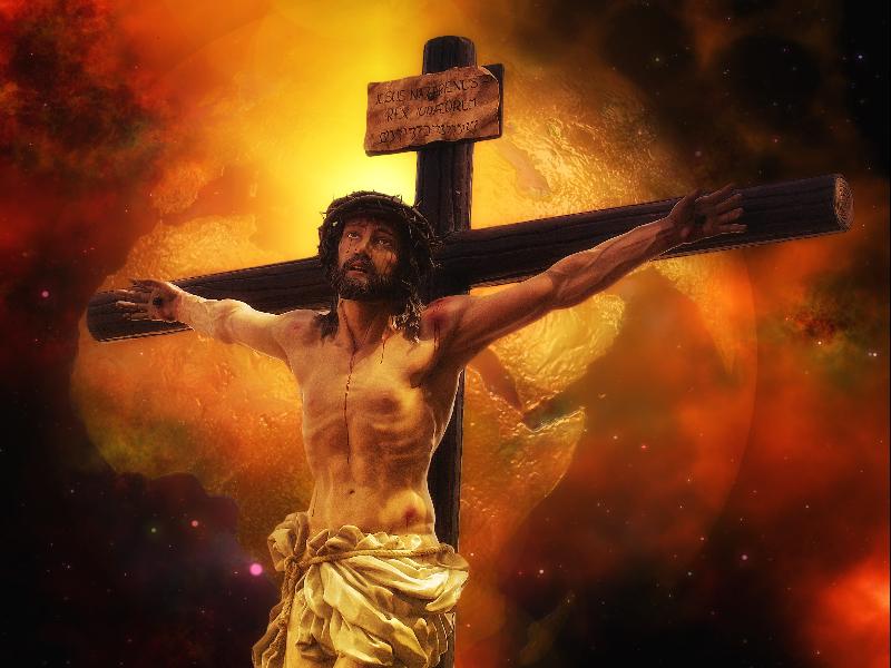 """Khi còn tại thế, Chúa Jesus bị bắt và chịu xét xử trước Tòa Công Luận vì tội tuyên giảng """"tà đạo"""" cho người dân, rồi bị đưa đi đóng đinh lên cây thập tự."""