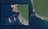 Hình ảnh vệ tinh cho thấy tàu ngầm Trung Quốc đi vào 'hang động tối mật'