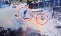 Nam thanh niên cực nhanh nhạy vứt xe máy, lao xuống cứu em bé