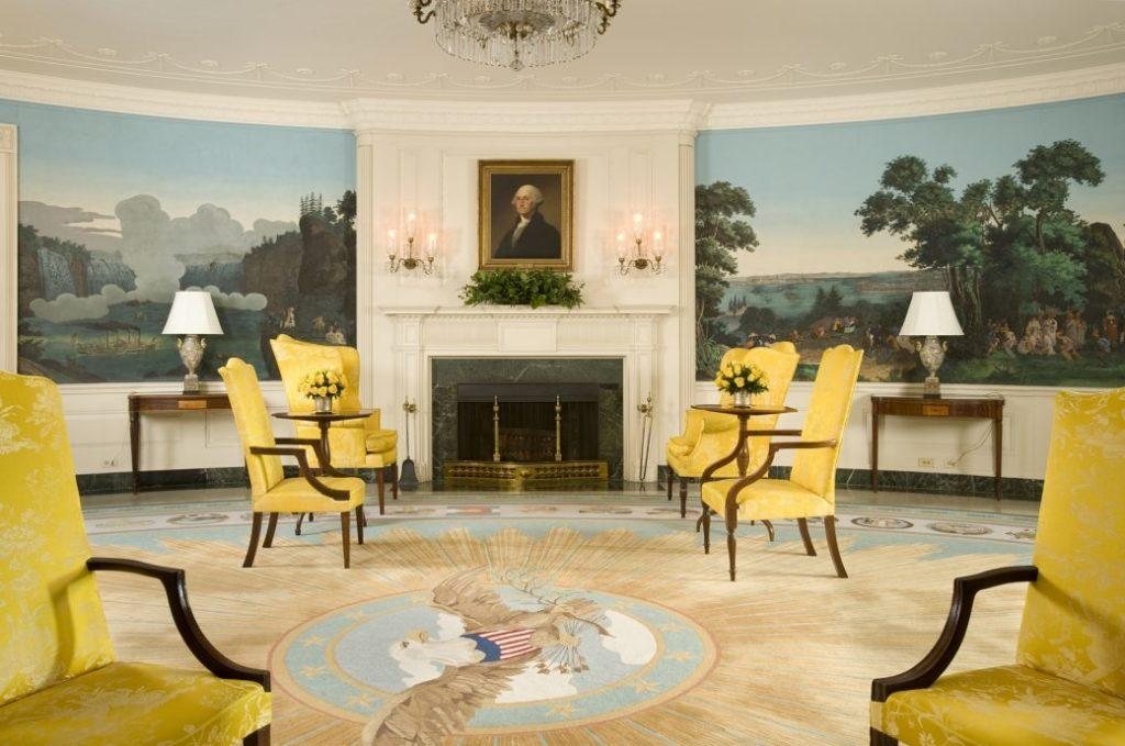 Phòng Ngoại giao là nơi từng chứng kiến nhiều sự kiện mang tính lịch sử.