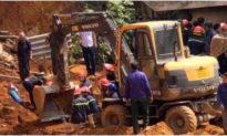 Sập công trình đang thi công ở Phú Thọ, ít nhất 4 người chết