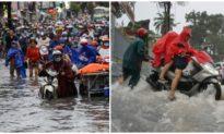 TP. HCM ngập nặng sau mưa lớn, 2 người thoát nạn, một người bị thương
