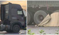 3 bố con thương vong sau va chạm với xe container ở Hải Phòng