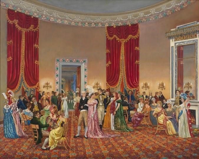 Wednesday Drawing Room là nơi thư giãn thú vị của các nghị sĩ, ngay cả với các đối thủ chính trị. (Ảnh: whitehousehistory.org)
