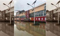 Nhiều nơi ngập lụt, nhà cửa cuốn trôi, hàng chục nghìn người dân An Huy ngâm nước 40 ngày không được cứu
