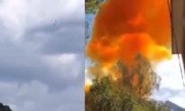 Tên lửa thử nghiệm của Trung Quốc rơi gần trường học, tạo ra đám khói màu cam độc hại