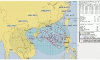 Thêm dự báo hướng đi bão Saudel khi tiếp cận Hoàng Sa của Việt Nam ở biển Đông