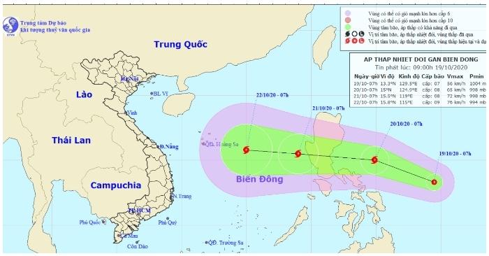 Xuất hiện áp thấp nhiệt đới mới khả năng mạnh lên thành bão đi vào biển Đông