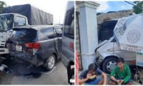 7 ô tô tông liên hoàn trên quốc lộ 1, chỉ dừng lại khi đâm vào nhà dân