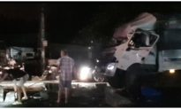 Xe giường nằm lật trên quốc lộ 1 ở Tiền Giang, 20 người thương vong