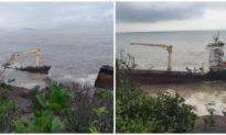 Tàu Đài Loan gãy đôi trên biển Lăng Cô, Thừa Thiên Huế lo ứng phó sự cố tràn dầu