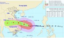 Bão số 9 đang đi ngang, dự báo sẽ thẳng vào bờ từ Đà Nẵng đến Phú Yên