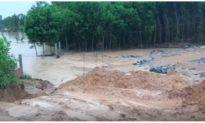 Đập thủy lợi sức chứa 800.000 m3 nước ở Quảng Nam bị vỡ