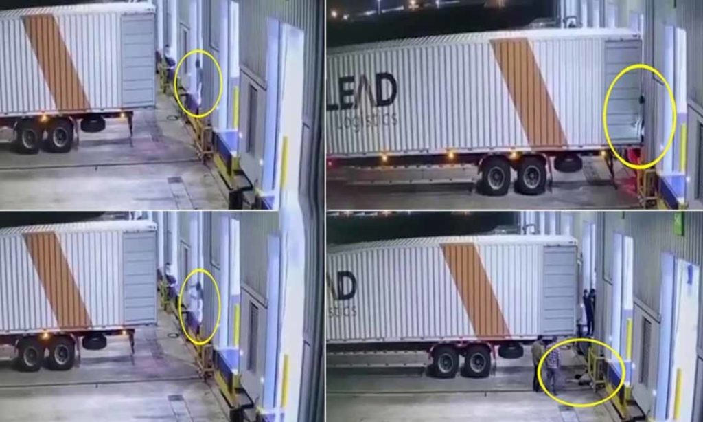 [Clip] Người đàn ông bị kẹp chặt vào tường tử vong sau khi đứng ra hiệu cho xe container lùi