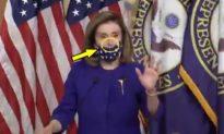 Thói đạo đức giả của Nancy Pelosi: Đeo khẩu trang không đúng cách khi chỉ trích Tổng thống Trump nhiễm COVID-19