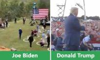 Donald Trump vs Joe Biden: Bên hoành tráng, bên ảm đạm