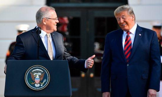 """Trung Quốc phàn nànrằng """"các chính trị gia Úc muốn làm những gì mà người Mỹ khẳng định và đơn giản là theo họ trong việc dàn dựng các cuộc tấn công chính trị vào Trung Quốc"""" (Ảnh: NICHOLAS KAMM/AFP via Getty Images)"""