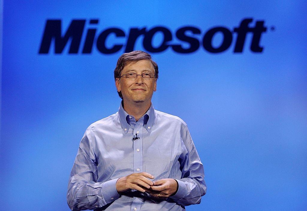 Chủ tịch Microsoft Bill Gates có bài phát biểu quan trọng tại hội nghị Triển lãm Điện tử Tiêu dùng (CES) hàng năm lần thứ 40 vào ngày 7 tháng 1 năm 2007 ở Las Vegas, Nevada. (Ảnh của Justin Sullivan / Getty Images)