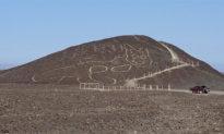 Phát hiện hình vẽ mèo khổng lồ 2.000 năm tuổi ở Peru