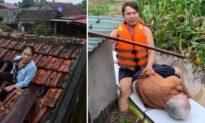 Nhiều người dân Quảng Bình bị mắc kẹt, nhịn đói, khóc trên nóc nhà, lên mạng xã hội kêu cứu giữa biển lũ