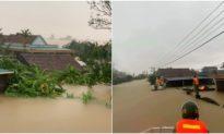 Ảnh: 'Đại hồng thủy' ở Quảng Bình khiến hàng vạn ngôi nhà bị ngập