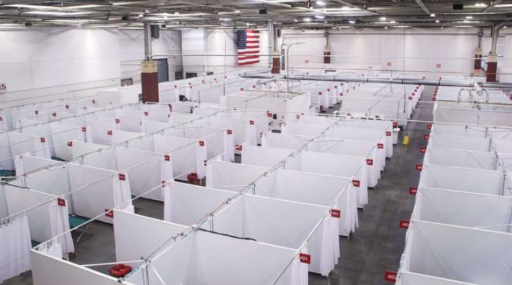 Số ca tử vong do COVID-19 đạt kỷ lục, tiểu bang Hoa Kỳ phải dùng đến bệnh viện dã chiến