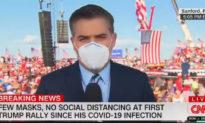 Phóng viên CNN chột dạ khi những người ủng hộ Tổng thống Trump hô lớn: 'CNN tệ hại'