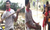 Thức trắng đêm vượt lũ cứu 300 người, người đàn ông Hà Tĩnh suýt mất con