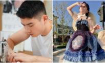 Tình yêu con tuyệt vời của ông bố trẻ: Tự cắt may hơn 100 bộ váy dành tặng con