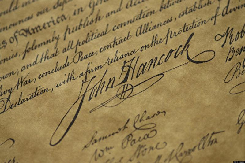 bản tuyên ngôn độc lập của Mỹ 5
