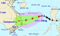 Bão số 10 mạnh cấp 9, giật cấp 11 hướng vào các tỉnh Quảng Ngãi đến Khánh Hòa