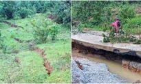 Xuất hiện nhiều điểm nứt núi kéo dài ở Quảng Nam