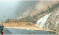 Sạt lở đèo Khánh Lê khiến giao thông tuyến Nha Trang - Đà Lạt tê liệt