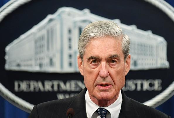 Cố vấn Đặc biệt Robert Mueller phát biểu về cuộc điều tra về sự can thiệp của Nga vào cuộc bầu cử Tổng thống năm 2016, tại Bộ Tư pháp Hoa Kỳ ở Washington, DC, vào ngày 29 tháng 5 năm 2019 (Ảnh của MANDEL NGAN / AFP qua Getty Images)