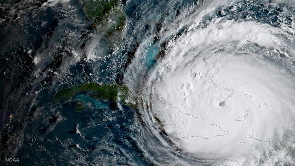 Hình ảnh cơn bão Irma đang hướng đổ bộ vào Florida. (Getty)