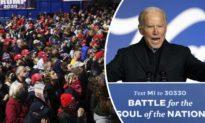 """VIDEO: Joe Biden tức giận gọi người ủng hộ Tổng thống Trump là """"Xấu xí"""" vì họ lấn át nhóm người ít ỏi của ông ta"""