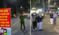 Hà Nội: Xử phạt nhiều người không đeo khẩu trang trên phố đi bộ hồ Gươm
